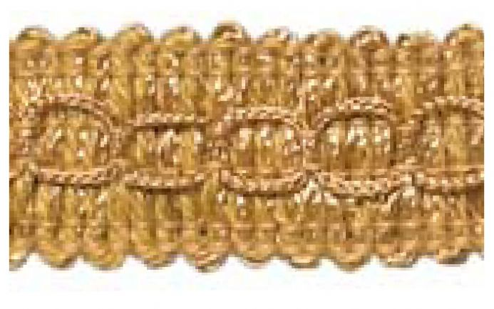 Gimp (Braided Trim) 22mm wide   - (per mtr)  Dark Gold D25